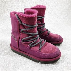 UGG Pink Lace Up Booties